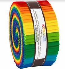 Jelly Roll Kona Cotton Solids Bright Rainbow Cotton Solids Precuts M525.26