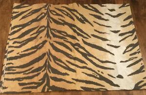 Rare RALPH LAUREN Beckett Tiger Stripe Twin Flat Sheet Animal Print Brentford