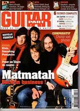 "GUITAR PART #157 ""Matmatah,M.Furnon,Boogie Balagan,Dry Can"" (REVUE+CD)"