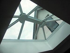 3.0m x 2.5m Skylight Roof Lantern | White uPVC Clad Aluminium Glass Roof