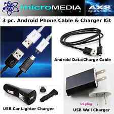 Phone Charger Adapter Kit w/ Data Charge Cable Samsung LG  Android