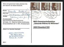 "Karte mit Bahnpoststempel: ""Köln-Frankfurt"" ; Zug  14020  / -9.-9.1973"