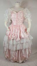vintage southern belle dress pink white lace