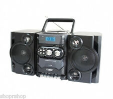 Naxa Portable MP3-CD Player with AM-FM Stereo Radio Cassette Player-Recorder