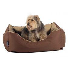 Sleepy Paws Waterproof Domino Bed Brown/Beige Small 65x80cm Dog Bed