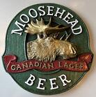 "Vintage Canada Moosehead Beer 13½"" x 14"" 3D sign"