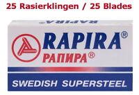 25 Rapira Suédois Super Acier Lames de Rasoir pour Sécurité Double Bord