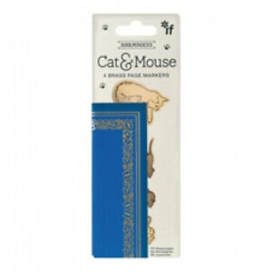 Cat & Mouse Brass Page Marker