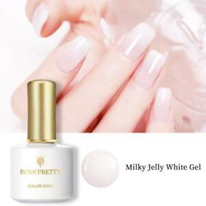 BORN PRETTY 10ml Milky Jelly White Gel Nagellack Soak Off Gradient Effekt Nagel