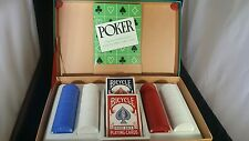 1950s Vintage Poker Chip Card Set Original Box Really Cool & Excellent Condition