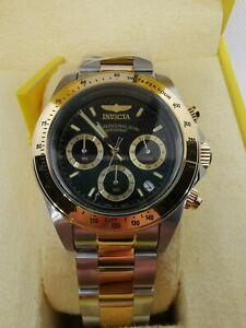 Invicta Speedway Watch 9224 Two Tone Daytona Homage Seiko Movement