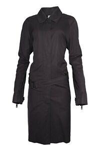 Burberry Prorsum Black Subtle Sparkle Trench Coat UK 16 USA 14 IT 48