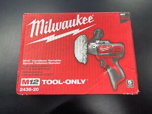 Milwaukee 2438-20 M12 Variable Speed Polisher Sander NEW SEALED!