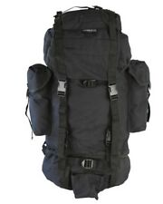 BRITISH ARMY STYLE ASSAULT PACK BACKPACK RUCKSACK in BLACK 60 LITRE
