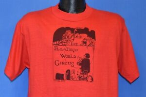vintage 70s FLOATING WORLD CIRCUS MAGICIAN BUNNY WIZARD TORCH t-shirt MEDIUM M