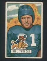 1951 Bowman #132 William Swiacki VG/VGEX Lions 100512