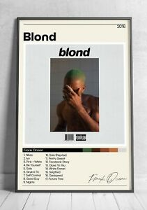 Frank Ocean Poster - Blond Tracklist - Album Cover Poster - Poster Print Wall Ar