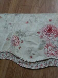 """Waverly Floral Multi Color Beige, Red, Pink 2-PC Window Valance Set. 76"""" X 17"""""""