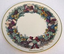 1982 Lenox ColoniAl ChriStmas Vegetable Wreath Massachusetts Second Colony Plate