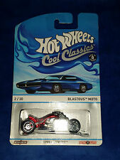HOT WHEELS 1:64 Cool Classics Red Car BLASTOUS MOTO Red 2013 Diecast Car 3+