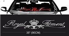 ROYAL fitment stance windshield windscreen front glass car JDM decal sticker