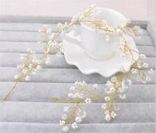 Perlas de novia casco Diamante Cabello Accesorios de boda de diamante de imitación de Vid 1 P