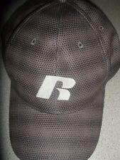 Russell Curved Brim Stretch Fit Hat Cap Black Grey s/m