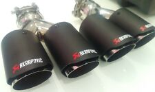 Akrapovic Twin Carbon Stainless Steel 60mm inlet 2 X 76mm Outlets staggered