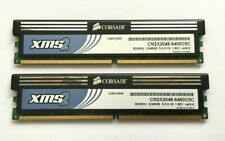 4GB (2 X 2GB MATCHED PAIR) CORSAIR XMS2 DDR2-800 /  PC2-6400 RAM