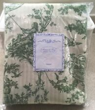 Maison du Linge Versailles Double Faced Green Toile Curtain Panel  Made France