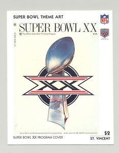 St Vincent #1444 Super Bowl XX Program Cover Art 1v S/S Imperf Chromalin Proof