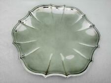 """Antique International Silver Co Silverplate 11"""" Round Flower Petal Serving Tray"""
