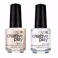 CND Creative Play Clear Top Coat & Base Coat Nail Polish Duo - 2 x 13.6ml
