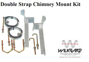 Double Strap Chimney Bracket Galvanised - Use with Larger mast lengths
