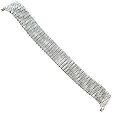 17-22mm Speidel Textured Silver Tone Twist-O-Flex Mens Watch Band 1559/02