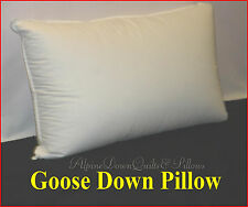 1 STANDARD PILLOW  95% GOOSE DOWN  HOTEL QUALITY 100% COTTON COVER ONLINE SALE