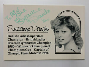 Suzanne Dando - British Gymnastics Champion - Original Hand Signed Autograph