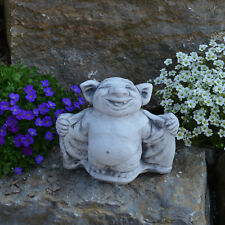 """Massive Steinfigur Troll """"Fledermaus"""" Dracula Gnom Wichtel Kobold aus Steinguss"""