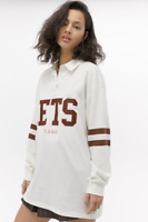 RRP - £55.00 iets frans... Oversized Rugby Top, Ivory, Size S