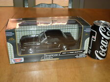 1964 1/2 Ford Mustang Car - Black Color, Die Cast Metal Factory Built Toy, 1:24