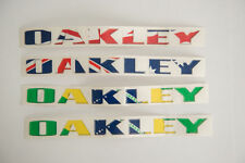RARE Lot of (4) Oakley Nation Flag Decal for Car, Brazil Australia UK Sticker
