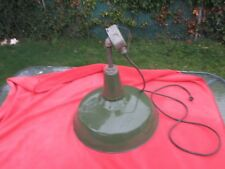 "LARGE 18"" WIDE GREEN INDUSTRIAL LIGHT SHADE WIRED AND WORKING"