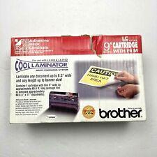 "Brother LC-A9 Cool Laminator 9"" Cartridge & Film Adhesive Back Laminate NIB"