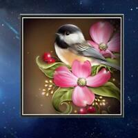 Full Drill Birds DIY 5D Diamond Painting Cross Stitch Kits Home Decor Art DD