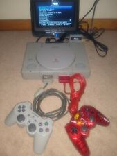 PSIO + PlayStation 1 PS1 PSX SCPH-5501 System + Installed switchboard + 128GB SD