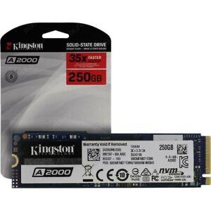 Kingston 250GB A2000 M2 Nvme PCI Exprimer (Sa2000m8/250g) Solide State Drive-Uk