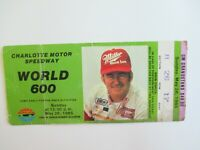 VTG Charlotte 1985 WORLD 600 Nascar Ticket Stub DARRELL WALTRIP Auto Race Winner