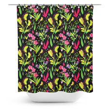 Sourpuss Deadly Beauties Shower Curtain NEW Venus Fly Trap Goth Floral Rockabill