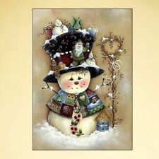 DIY 5D Full Diamond Painting Snowman Embroidery Cross Crafts Stitch Home Decor