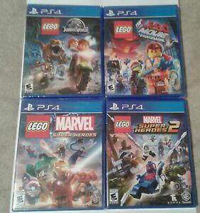 Lego Jurassic World, Lego Movie Marvel Super Heroes 1-2 Sealed PS4